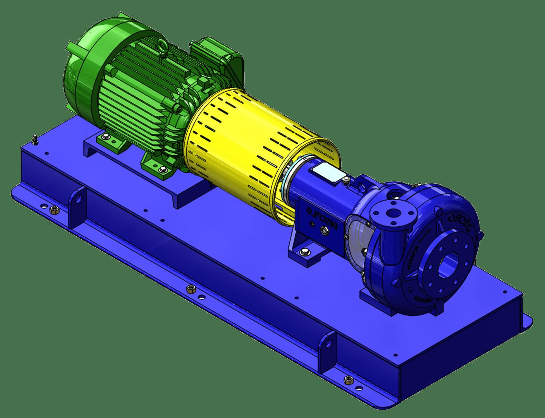 horizontal in line pump